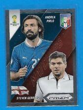2014 Panini Pirzm ANDREA PIRLO & STEVEN GERRARD Matchups insert card