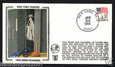 Yogi Berra Dismissed Usps 1985 Z Silk Cachet Ny Yankees