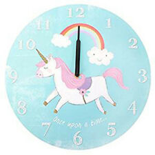 Large UNICORN Wooden WALL CLOCK