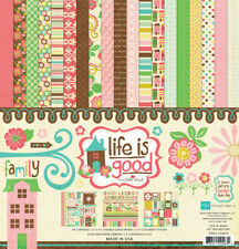 "Echo Park ""Life Is Good"" 12x12 Scrapbook Kit Papers + Stickers Family Home"