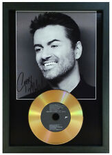 More details for george michael - signed photo with choice of gold disc collectable memorabilia 3