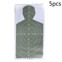 5pcs Shooting Silhouette Target Practice Paper Target Arrow Hunting Accessory JR