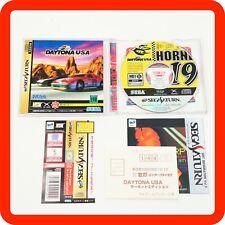 [MINT] Sega Saturn DAYTONA USA Circuit Edition Spine Reg card Complete