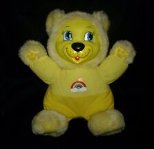 VINTAGE BABIES N THINGS YELLOW TEDDY BEAR MUSICAL LIGHT STUFFED ANIMAL PLUSH TOY