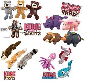 KONG Dog Puppy Toys Plush Squeaky Dogs Toy Phatz Cuteseas Wild & Scrunch Knots
