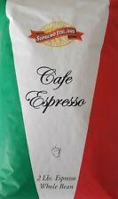 Italian Espresso Gourmet Coffee Beans 100% Whole Bean Fresh Roasted ( 2 lbs )