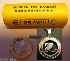 Greece Greek 25 coins euro roll  year  2002 s Athenian owl tetradrachmon UNC BU