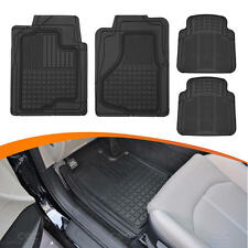 Motor Trend FlexTrim Set of 4 Rubber Car Floor Mats Auto Odor-Free 3D Super Duty