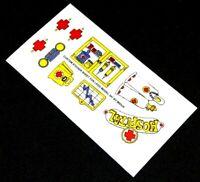 Ersatz Pre-Cut Aufkleber/Sticker für LEGO 347 Fabuland Doc David's Hospital 1979