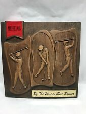 Michelob Beer Plack Sign Golf By The World's Best Brewer Wood Bark Look