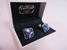 PENROSE Di Stilista Londra Greenwich GEMELLI argento e blu-Rrp £ 89 #CL 65