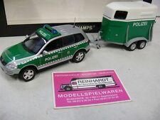 1/43 Minichamps VW Touareg 2002 mit Pferdeanhänger Polizei Dresden 402052090