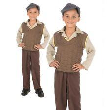 1940s School Boys Costume World War WW2 Kids Wartime Fancy Dress Book Day