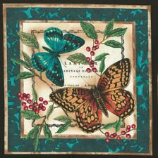 Vignette de Tissu Patchwork Papillons et baies Cotton Fabric Butterflies