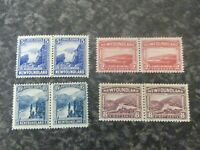 NEWFOUNDLAND POSTAGE STAMPS SG150,153,155,160 PAIRS VERY LIGHTLY MOUNTED MINT