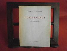 """Gozzano """"I colloqui"""" – Garzanti, 1954"""