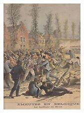 LE PETIT JOURNAL 128 06/05/1893 SERBIE BELGIQUE MONS