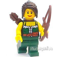 C312 Lego Castle Forestwoman Archer Dragon Knight Maid Custom Minifigure NEW