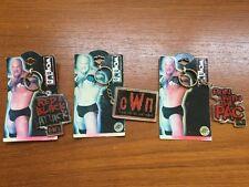 LOT of 3 1999 WCW - NWO World Championship wrestling KeyChain