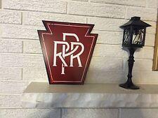 "Pennsylvania Railroad Keystone Herald Logo Heavy Steel Sign 12"" x 12"" Cutout DL"