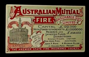 Vintage Sydney AMF Building  Aust Mutual Fire Insurance  Advertising Post Card