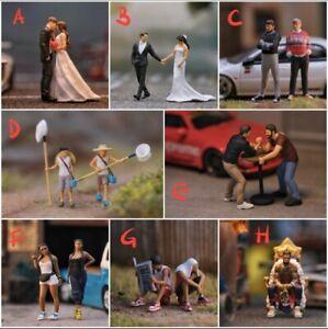 Miniature Figure Prewedding. JAPAN SUMMER KIDS (Pick One) H0 Scale 1/87 or 1/64