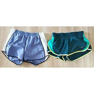 Nike Womens Running Shorts Size Small Lot of 2 Purple Green