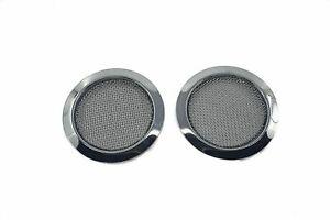 Screened Soundhole Covers Large Chrome 2pk