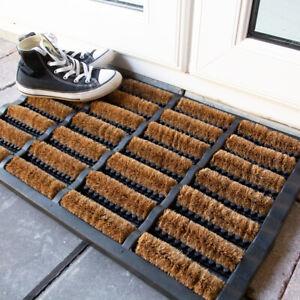 Heavy Duty Rubber Coir Door Mat   Home & Garden Floor Mats Outdoors   Non Slip