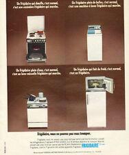 Publicité 1974  FRIGIDAIRE cuisinière machine à laver lave vaisselle frigidaire