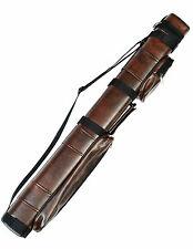 3X6 Hard Pool Cue Stick Carry Case Brown Billiard 3 x 6