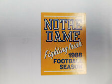 Notre Dame 1988 Football College Pocket Schedule (RK)