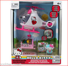 Sanrio Hello Kitty Emergency HELICOPTER Play Set  + Accessories *NEW*