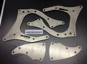 TRIUMPH ENGINE TO BSA FRAME TRIBSA CONVERSION PLATES BRACKETS STAINLESS STEEL