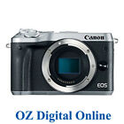 New Canon EOS M6 Body Silver Mirrorless 24.2MP WiFi NFC Camera 1 Year Aust Wty