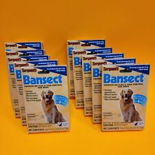 New listing 10 - Sergeants Bansect Squeeze-on Flea & Tick Control For Dogs Over 33 Pounds