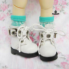 Yosd 1/6 BJD Shoes Dollfie DIM DREAM White Boots DOD SOOM Luts AOD MID Dollmore