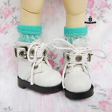 Yosd 1/6 BJD Shoes Dollfie DIM DREAM White Boots DOD SOOM Luts AOD MID Dollmore