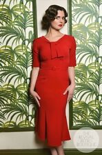 Stop Staring Rouge Red Wiggle Pencil Dress L / XL 12  Reproduction Vtg Reto VLV