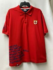 England Red Short Slv Polo Rugby Soccer Shirt English Pride Passion Men Large L
