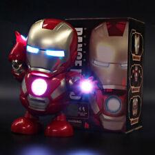 Marvel Avengers 4 Dancing Hero Iron Man With Music Lights Robots Kids Toys Gift
