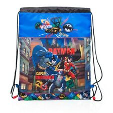 Batman Drawstring Backpack Rucksack PE Swim Travel School Bag OFFICIAL