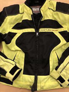 Castle X Racing Snowmobile/motorcycle Jacket- Black -yellow Neon Medium
