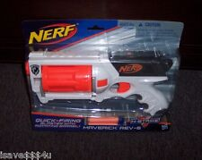 NEW NERF N-STRIKE MAVERICK REV-6 FOAM DART GUN QUICK-FIRING ROTATING BARREL