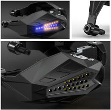 Motorcycle Handguard Baffle Waterproof Windproof Grip Protect Hood w/ LED Light