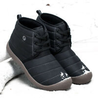 Winter Men's Warm Casual Waterproof Snow Boots Cotton Inside Shoes Large Size
