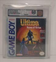 Ultima Runes of Virtue Game Boy VGA 60 EX H-SEAM Factory Sealed Brand New Rare