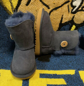 UGG TODDLER BAILEY BUTTON II BOOTS 1017400T BRAND Sz 6 NWOB