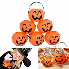 12 x  Pumpkin Candy Holder Mini Trick-or-treat Halloween Candy Bucket Toys 2017