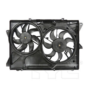 Dual Radiator & Condenser Cooling Fan Assembly for 13-19 Ford Explorer 3.5L